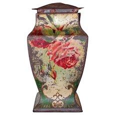 Antique Victorian Rose Tin