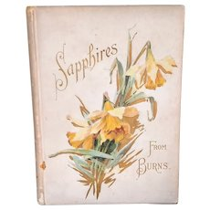 "Antique Poetry Book ""Sapphires"" by Robert Burns"