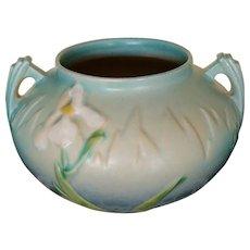 """Vintage Roseville Pottery """"Iris"""" Jardiniere"""