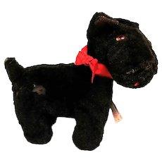 "Vintage ""Ideal Toy"" Stuffed Scottie Dog Toy"