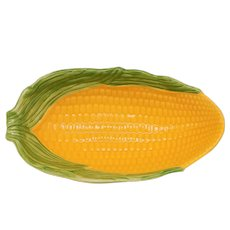 Vintage Yellow Ceramic Figural Corn Serving Dish