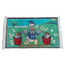 Vintage Disney's Donald Duck Rug