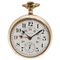 Elgin Veritas 18s 23 Jewel Lever Set RailRoad Watch