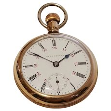 Seth Thomas Model 5,  17 Jewel with Canadian Railroad Dial in coin silver swing out case