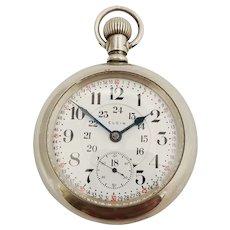 Elgin B.W.Raymond,  24 hour Montgomery Dial