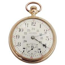 Elgin, Grade 294, Model 5, Circa 1914, 24 hour dial, S 18, Private Label  O.W. Castle, Westport Ont.
