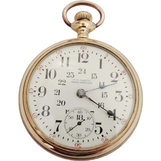 Elgin, Grade 294, Model 5, Circa 1914, 24 hour dial, S 18, Private Label  O.W. Castle, Westport Ont.