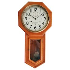 CPR Seth Thomas World , 24 hr Canadian Pacific Dial  oak case