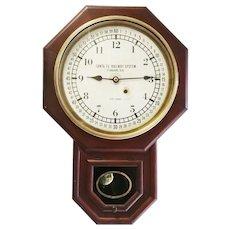 Seth Thomas Santa Fe Rail Road Short Drop Office Clock