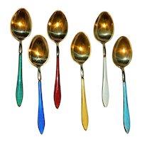 ~ David Andersen Sterling Demitasse' Spoons ~