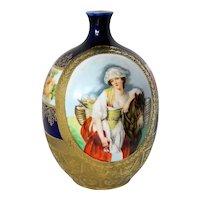 ~ Royal Bayreuth Porcelain Portrait Vase, Circa 1902 ~