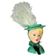 ~ 1950's Lefton Lady Head Vase ~
