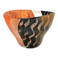 "~ Vintage Kosta Boda Modernist Glass Tonga Vase Signed 11"" ~"