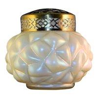 ~ Kralik Bohemian Art Glass Vase & Flower Frog circa 1900 5 in. ~