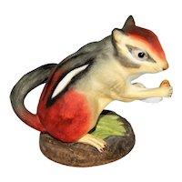 ~  Vintage Boehm Bisque Porcelain Figural Chipmunk  ~