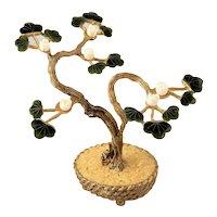~  Early Swoboda Bonsai Tree Jade & Coral ~