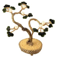 ~  Early Swoboda Bonsai Tree Jade & Coral ~