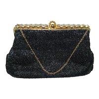 ~  Josef Designer Handbag / Purse French Beaded & Rhinestones, Wow!  ~