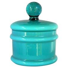 ~  Carlo Moretti Cased Glass Vanity Jar Large 1960's Empoli Italy ~