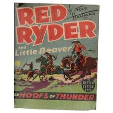 Red Ryder on Hoofs of Thunder - Whitman Better Little Book