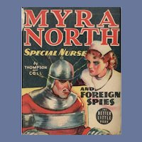 Myra North Special Nurse and Foreign Spies Whitman Better-Little Book