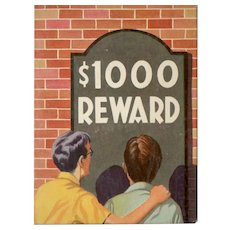 $1000 Reward Saalfield Big-Little Book