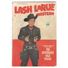 Lash LaRue Western Comic No 13 1951