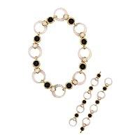 Boucheron 1970 Paris convertible necklace bracelets in 18 kt with 48.84 Cts in diamonds and rock quartz