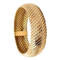 Tiffany & Co. France 1960 by L'Enfant Rare 18 Kt gold mess bracelet bangle