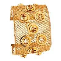 Gucci Milan 18 kt yellow gold flexible bracelet with kinetic spheres logo