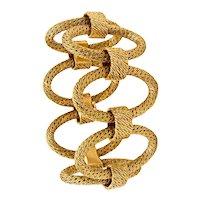 Patek Philippe 1970 Paris by George L'Enfant Paillette braided textured bracelet in solid 18 kt yellow gold