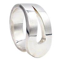 Tiffany & Co. 1973 Don Berg rare geometric loop bracelet in solid .925 sterling silver