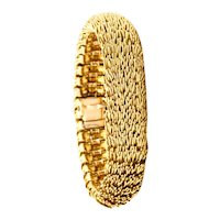 Boucheron 1960 Paris Filament d'Or Rare bracelet in solid textured 18 kt yellow gold