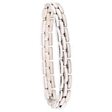 Cartier Paris Maillon Panthere bracelet in 18 kt white gold box & paper
