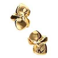 Angela Cummings 1984 New York Orchids flowers clips-earrings in 18 kt yellow gold
