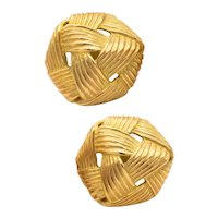 Angela Cummings 1984 Studio textured Wrapped earrings in solid 18 kt yellow gold