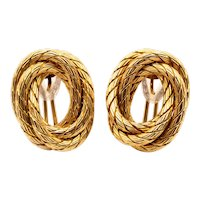 Carlo Weingrill 1960 Verona Clip-earrings in 18 kt textured woven gold