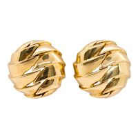 Tiffany & Co. New York Vintage geometric bold clips-earrings in solid 18 kt yellow gold