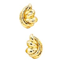 Henry Dunay New York large hammered earrings in 18 kt yellow gold