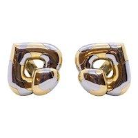 Marina B. Milan 18 kt two tones gold Pardy clip earrings