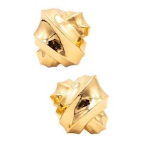 Angela Cummings 1984 Studio rare geometric earrings in solid 18 kt yellow gold