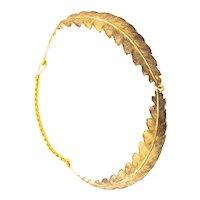 Buccellati 1970 Milano 18 kt gold Foglia Quercia necklace with organic motifs