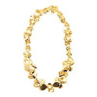 Angela Cummings 1984 New York Orchids flower necklace in solid 18 kt yellow gold