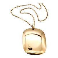 Dinh Van 1970 Paris very rare Prototype of long sautoir necklace in 18 kt yellow gold