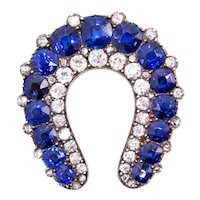Cartier Paris 1900 Gia certified Edwardian brooch in 18 kt with 9.57 Ctw Pailin sapphires & diamonds