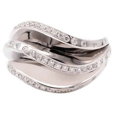 Cartier Paris rare Nouberg-berg ring model 18 kt white gold with 1.12 cts VS diamonds