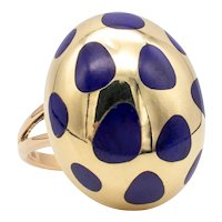 Tiffany & Co. 1980 by Angela Cummings 18 kt Allure polka dots ring with lapis lazuli
