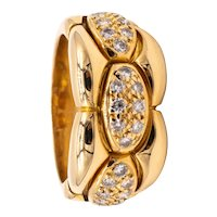 Cartier Paris cocktail ring in 18 kt yellow gold with 0.50 Cts of VS diamonds