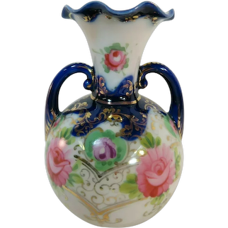 Antique NIPPON Double Handled Vase - Hand Painted