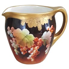 Early Pickard Grape Pitcher signed by Leading master Artist Paul Gasper